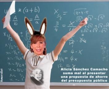 Schoolgirl with Hands up at Blackboard --- Image by © JLP/Jose Luis Pelaez/zefa/Corbis