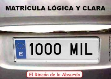 matrícula 1000