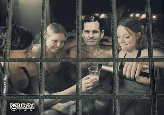 en la cárcel