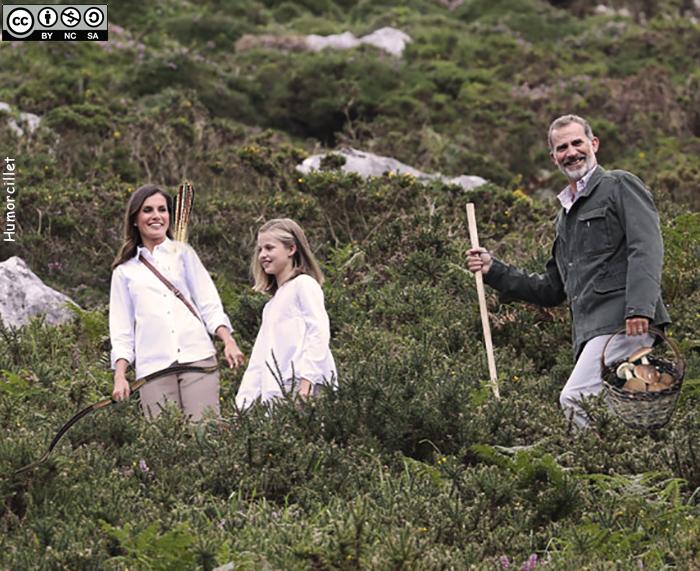familia real bosque