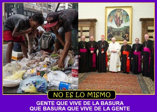 NO ES LO MISMO BASURA GENTE