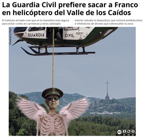 franco helicóptero prensa
