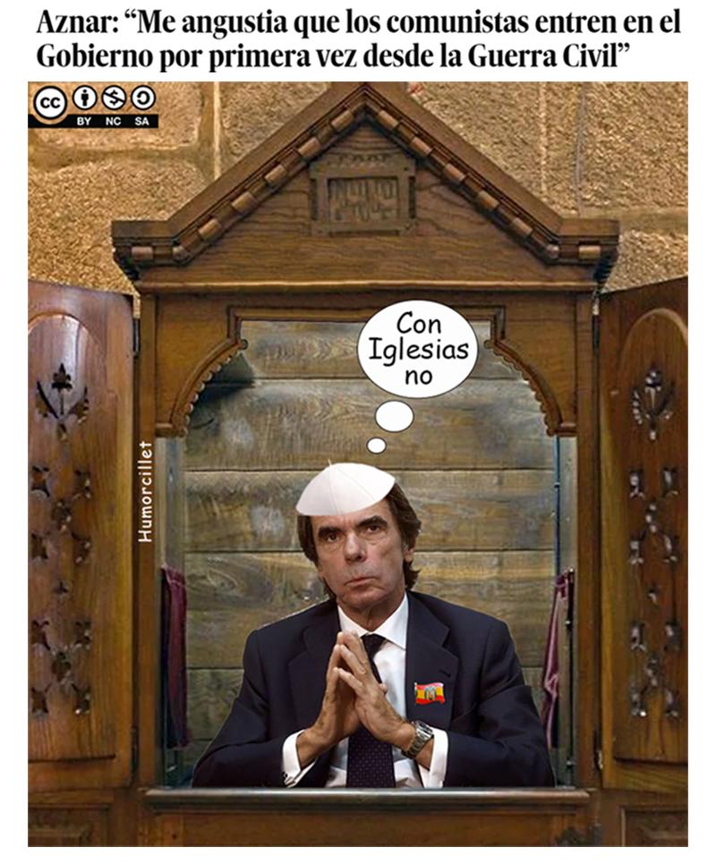 prensa aznar rezando