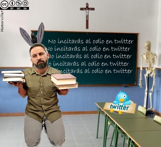 abascal castigado twitter