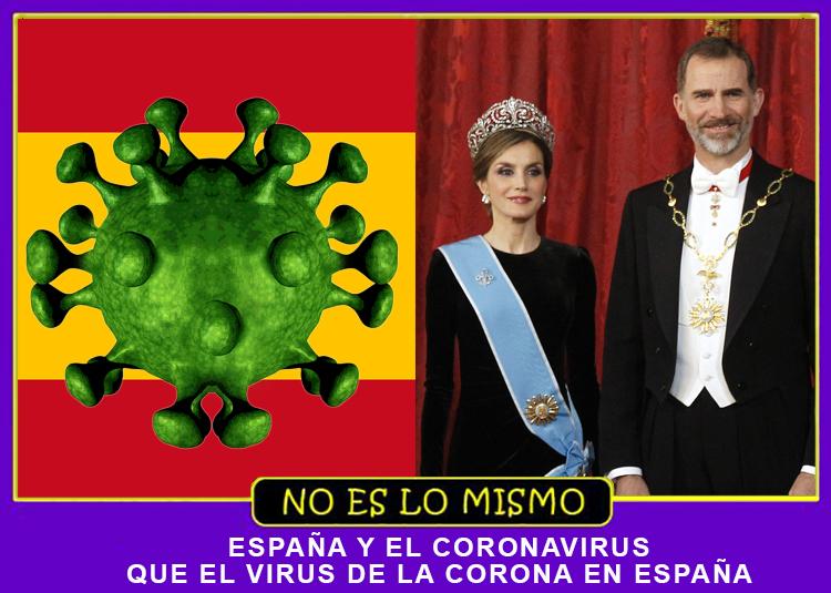 NO ES LO MISMO CORONAVIRUS