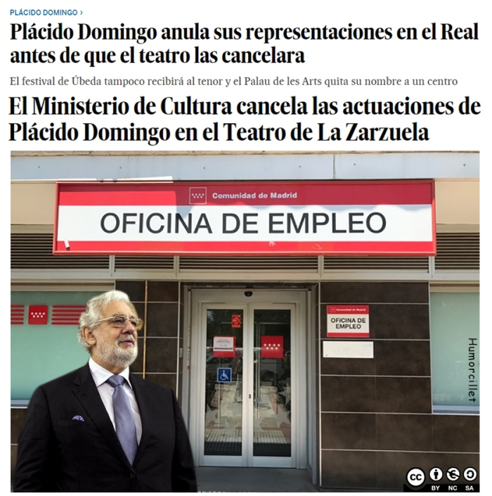 Plácido Domingo paro