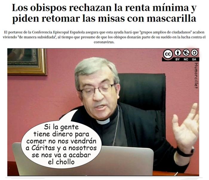 obispos renta mínima